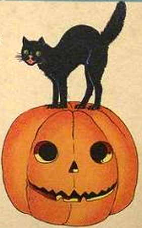 Halloween black on Jack O Lantern clip art