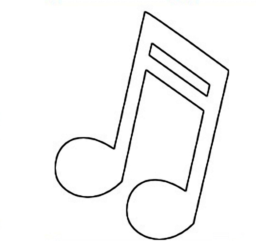 musical note template free