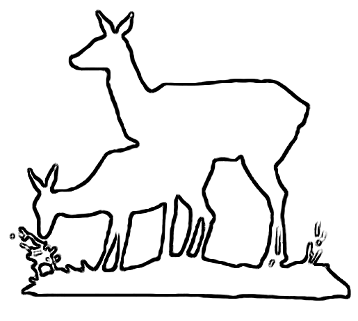 Deer feeding craft pattern
