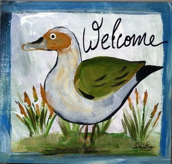 Welcome Duck clip art