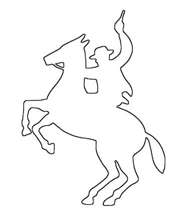 Cowboy on horse craft pattern