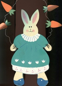 bunny rabbit outline pattern & carrots