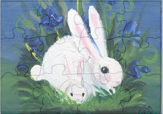 bunny wood puzzle pattern
