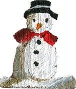 Snowman painting guide