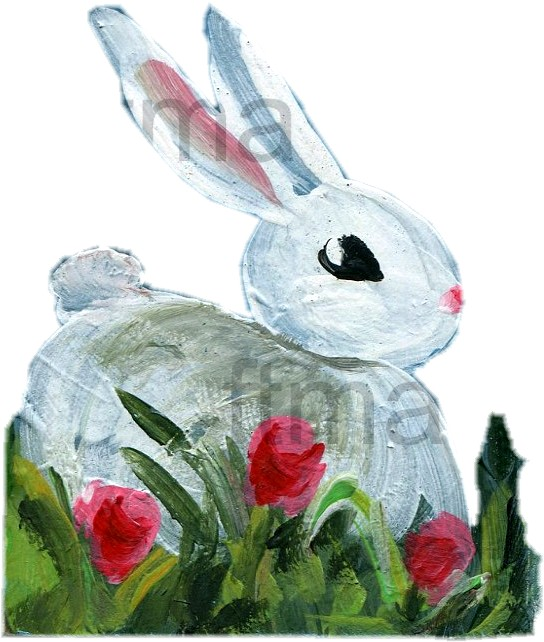 Bunny Rabbit painting guide