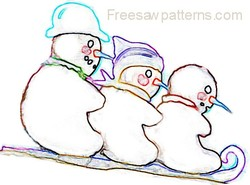 Snowman painting outline pattern