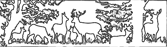 Deer in the wood craft pattern