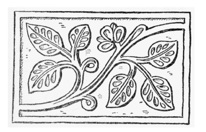 Leaf vine wood pattern