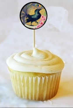 Crow Cup Cake Topper