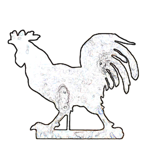 rooster weathervane scroll saw pattern