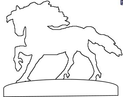 weather vane horse pattern