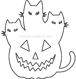 Cats & pumpkin craft pattern