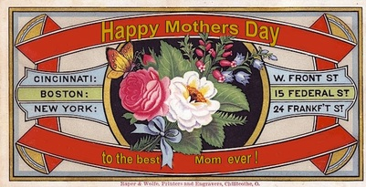 happy mothers day vintage image