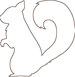 Squirrel saw scroll pattern