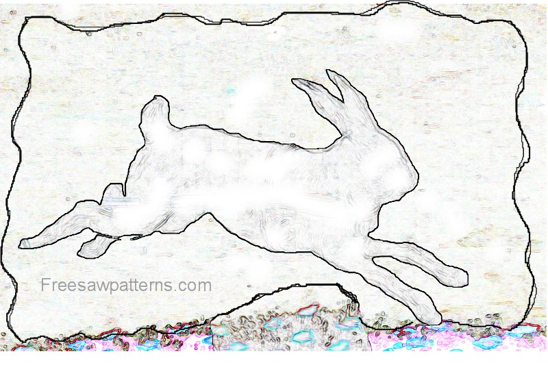 Running bunny rabbit craft pattern