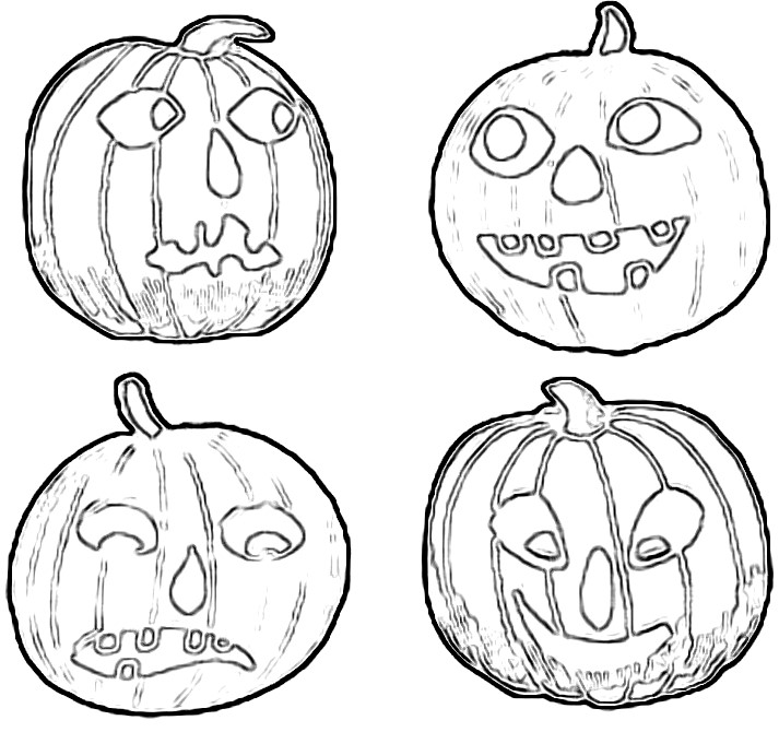 Jack O Lantern pattern outlines