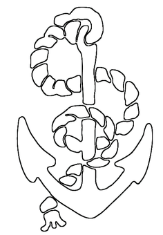 rope and anchor saw pattern