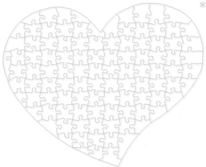 template for heart puzzle