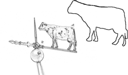 cow pattern weather vane