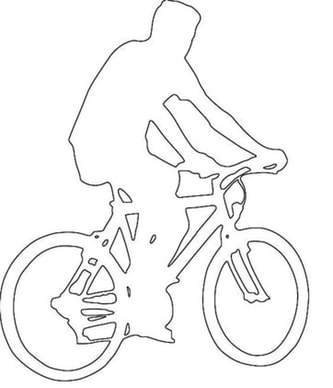bike riding craft pattern