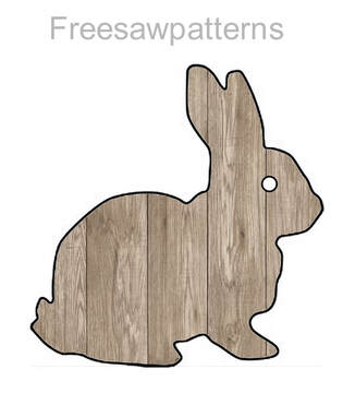 cut out of wood bunny rabbit