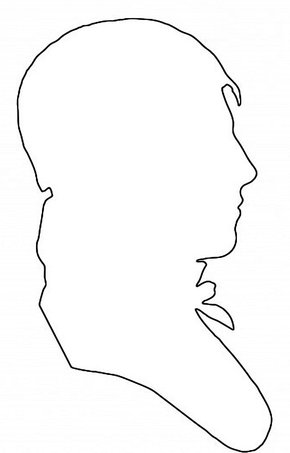 pattern outline of mans head Victorian