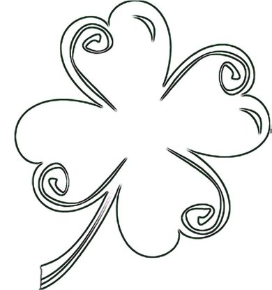 4-leaf clover craft pattern