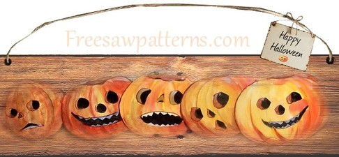 Five Jolly Pumpkins Craft Project